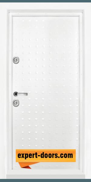 Блиндирана входна врата модел T-777, панел Бял гланц