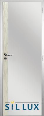 Алуминиева врата за баня Sil Lux, цвят Избелен дъб Лайсна