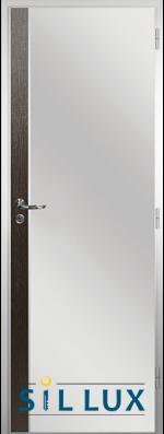Алуминиева врата за баня Sil Lux, цвят Златен дъб Лайсна